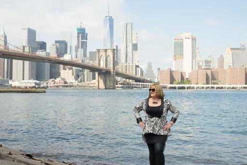 Jewellery Designer Andrea Agosta taking in the magnicent view on the banks of the Hudson River!